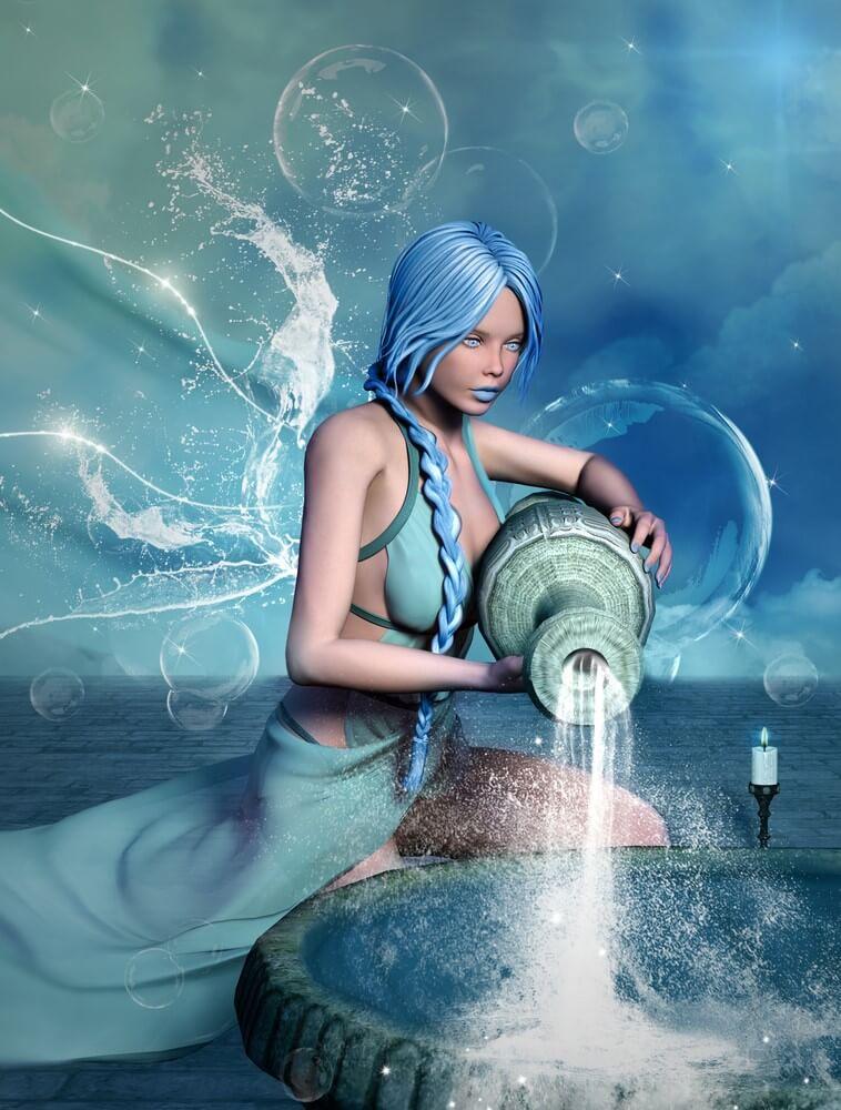 Aquarius like a beautiful girl