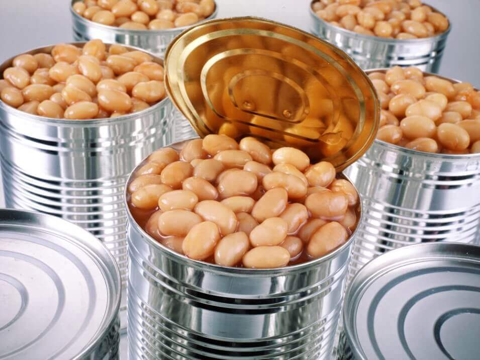 Beans in can