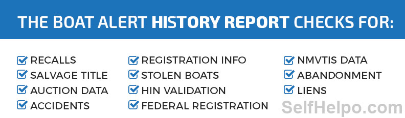 Boat Alert History Report What you need to check