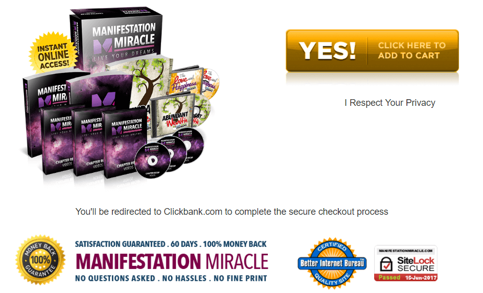 Manifestation Miracle CDs