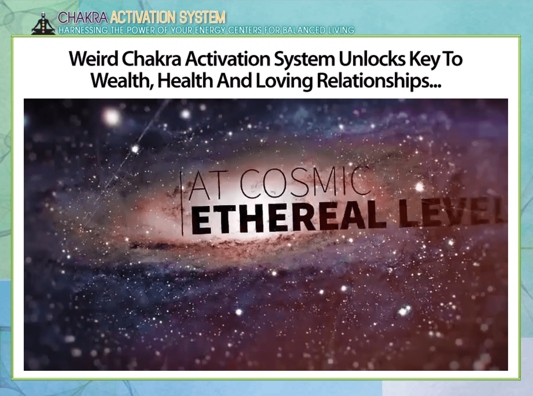 Unlocks the key to wealth, health and loving relationships