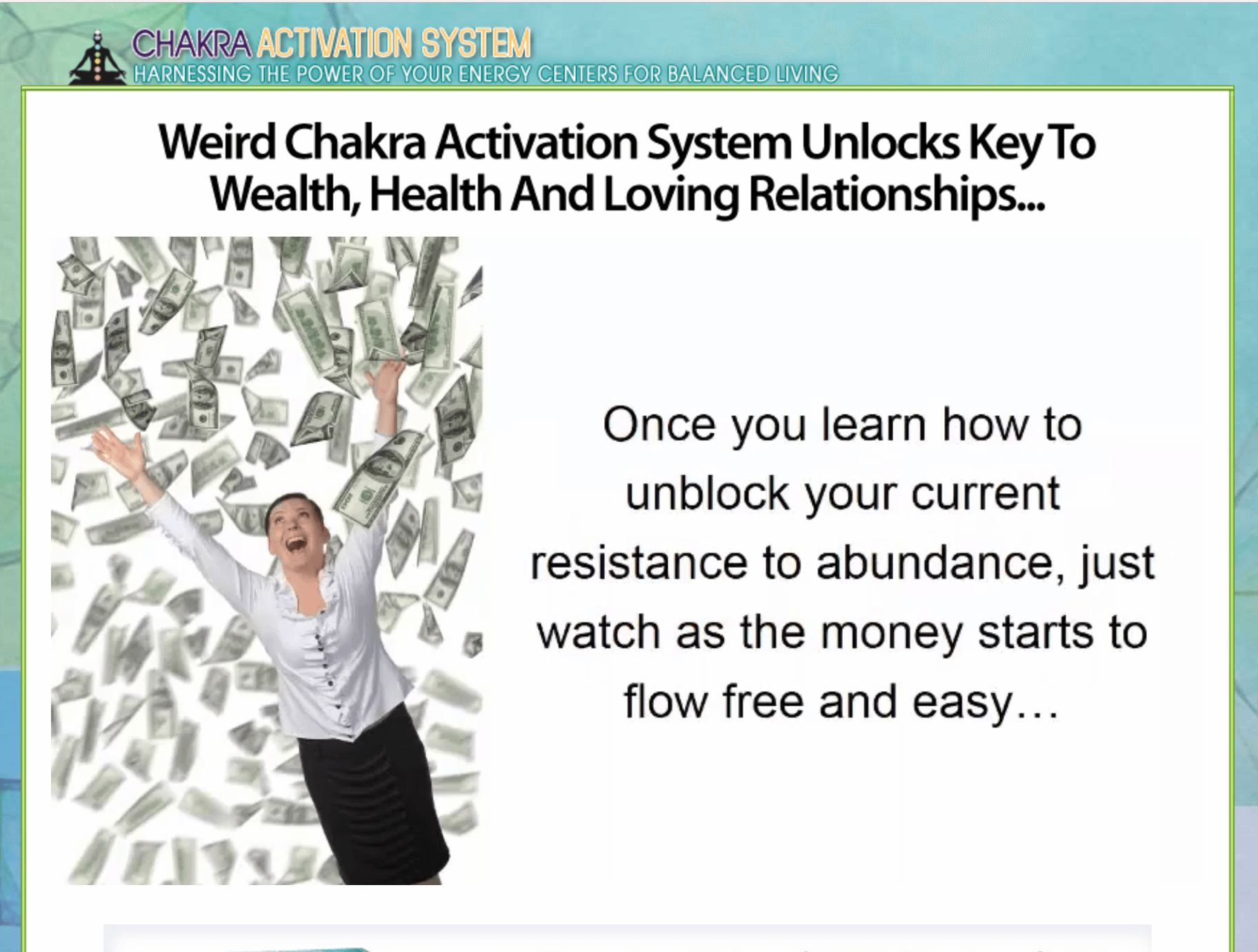 Unlocks the key to wealth health and loving relationships
