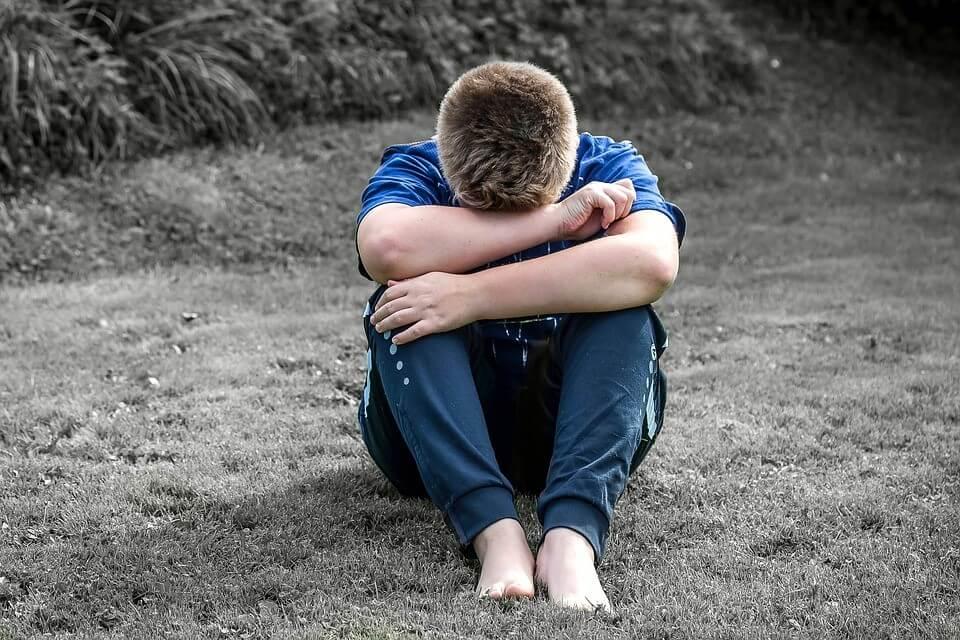 Child Cry Sit Sad Want To Be Alone Alone Boy