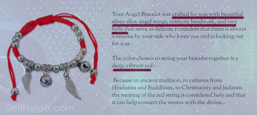 Cosmic Angel Bracelet Crafted