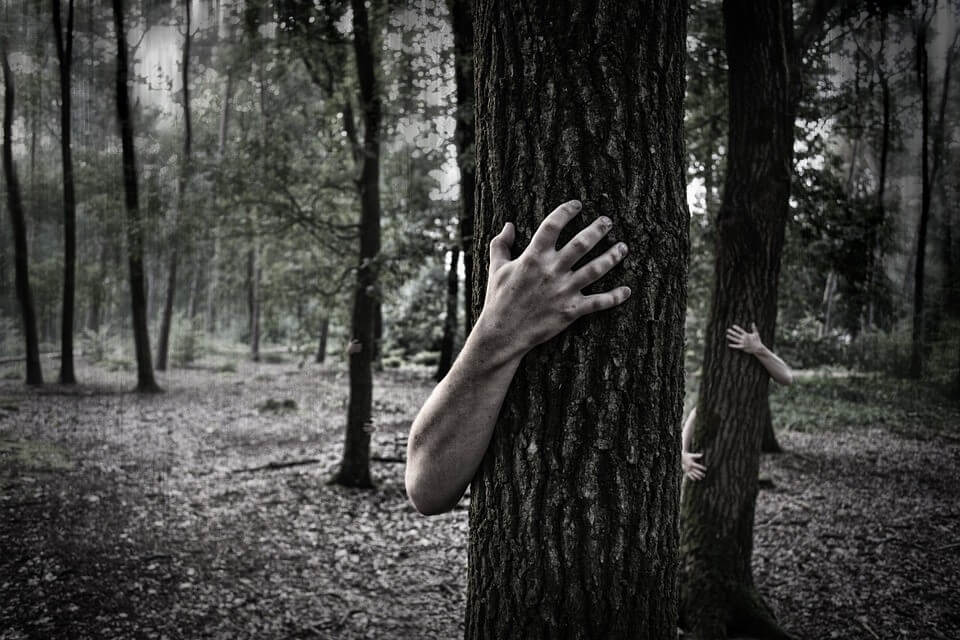 Creepy hand on the trees