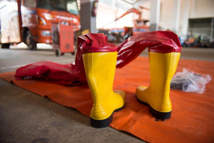 Firefighter anti bio hazard suit