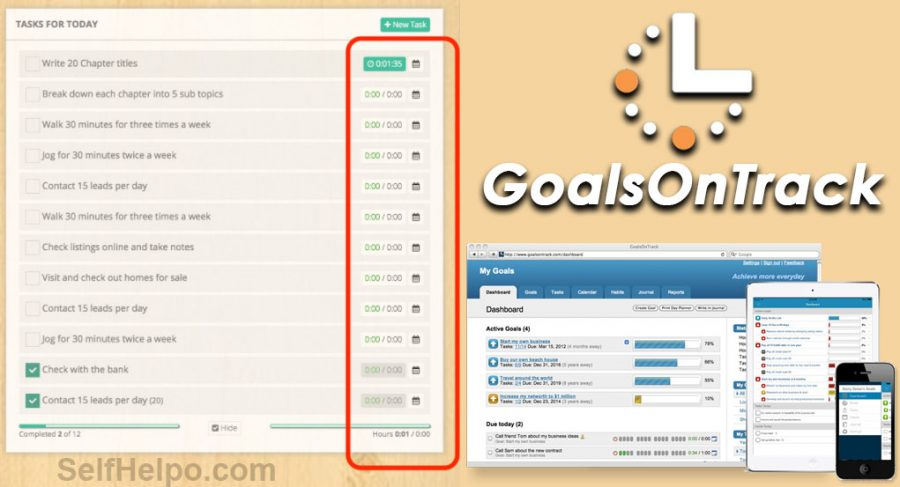 GoalsOnTrack Time Tracking