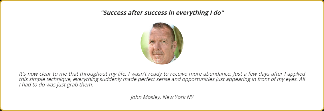 John Mosley Testimonial
