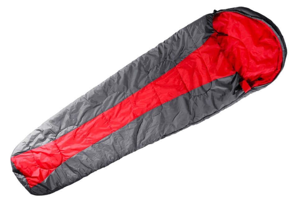 Sleeping bag isolated on white