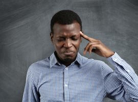Stressed African businessman