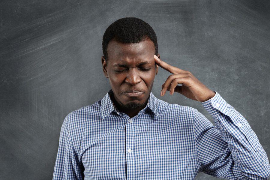 Stressed African businessman
