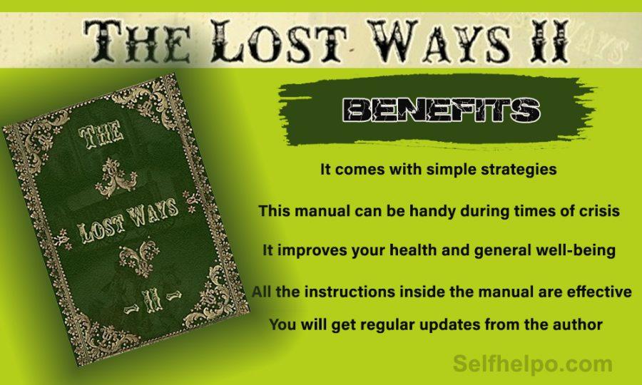 The Lost Ways II Its Benefits