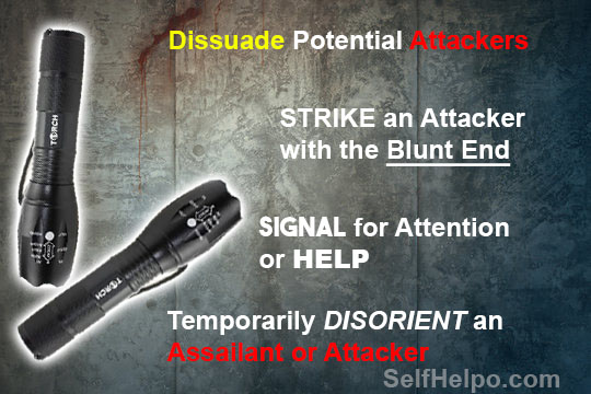 Torch Tactical Flashlight Dissuade Potential Attacker