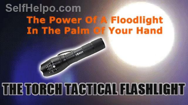 Torch Tactical Flashlight Power of Floodlight