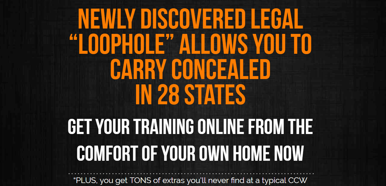 Website of Concealed Carry Classroom