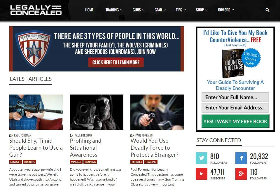 Website of Legally Concealed