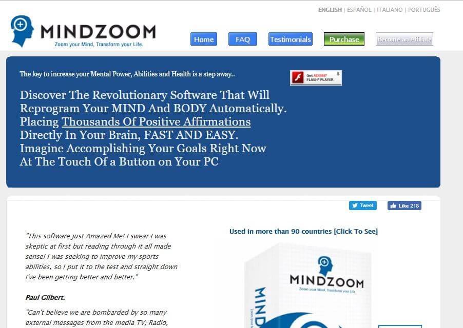 Website of MindZoom