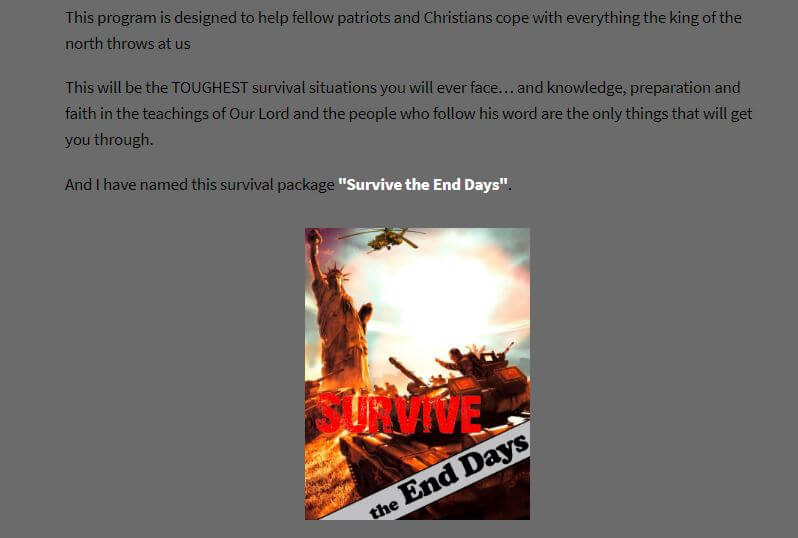 Website of Survive the End Days