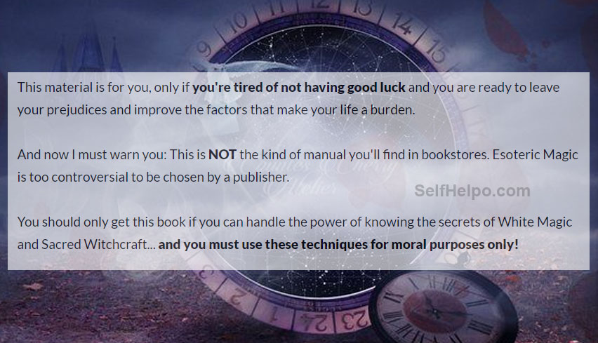 Witchcraft Secret Manual Tired of not having Goodluck