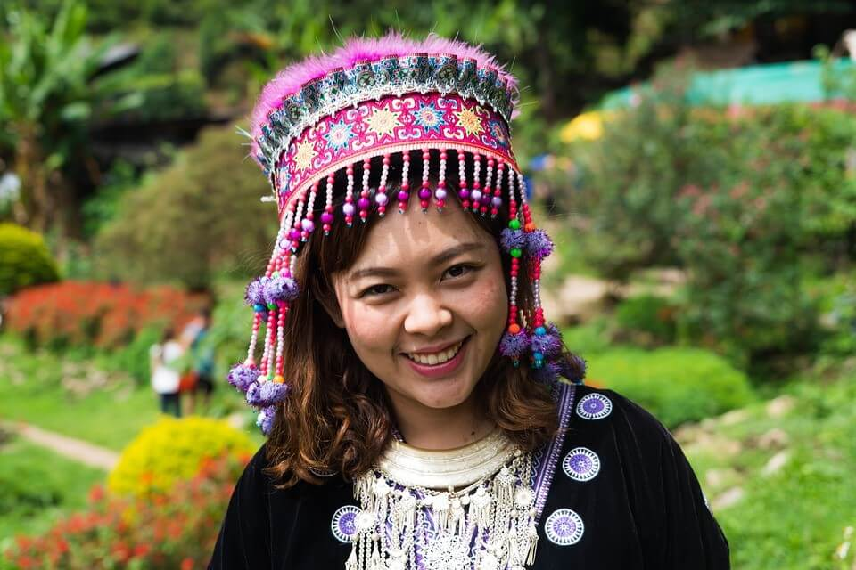 Costume Woman Happy People Girl Chiang Mai Person