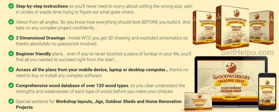 Woodworkers Treasure Chest Features of the Product