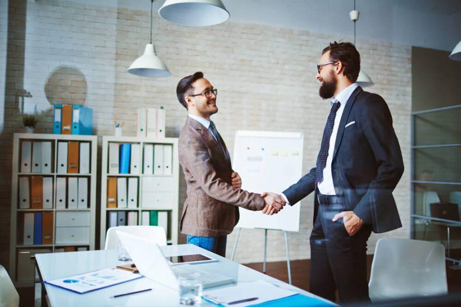 businessmen handshaking
