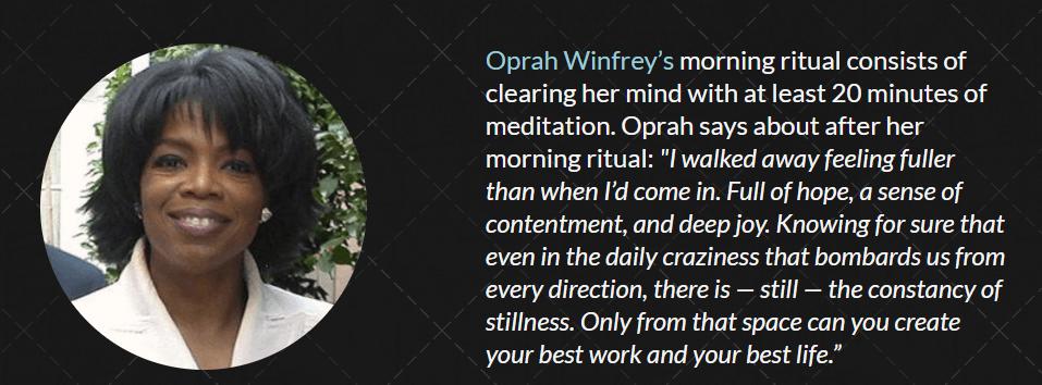 Oprah- Routine