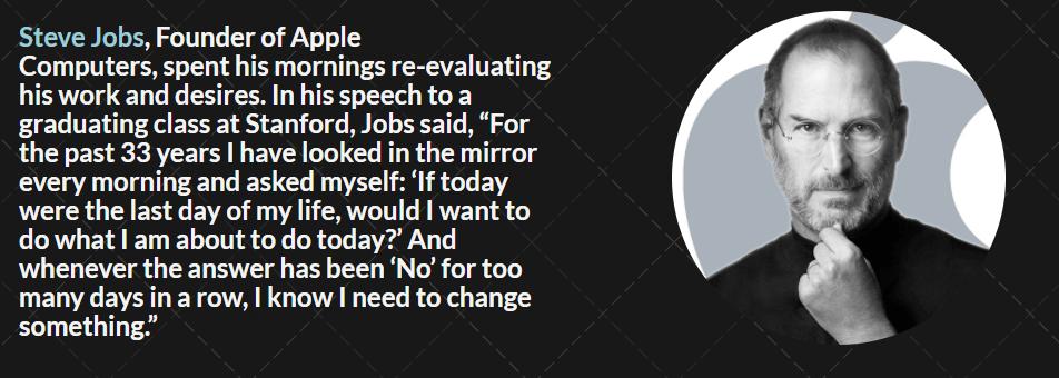 Steve Jobs- Routine