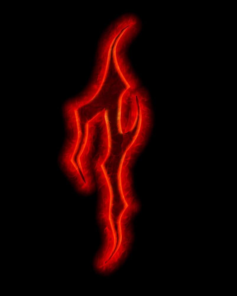 devil fire font - number one