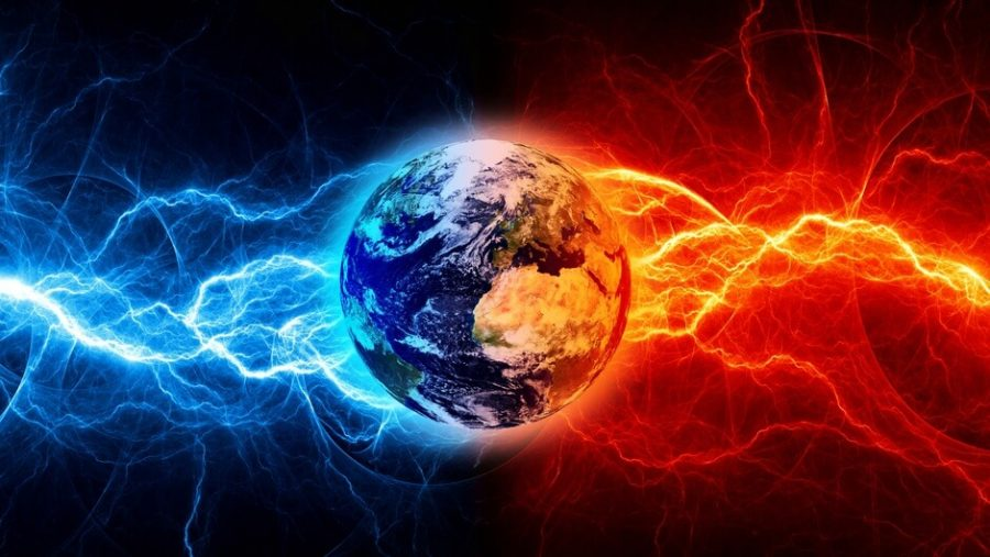 electromagnetic pulse hitting earth