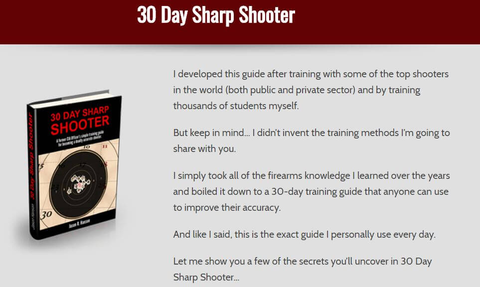 30 Day Sharp Shooter Review: Are You Ready To Pull The Trigger?