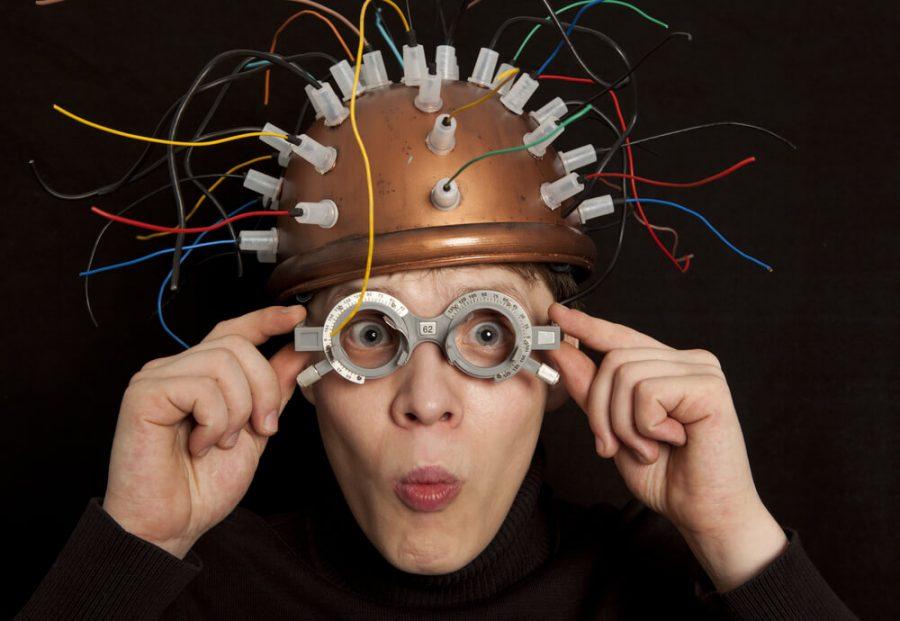 helmet for brain research