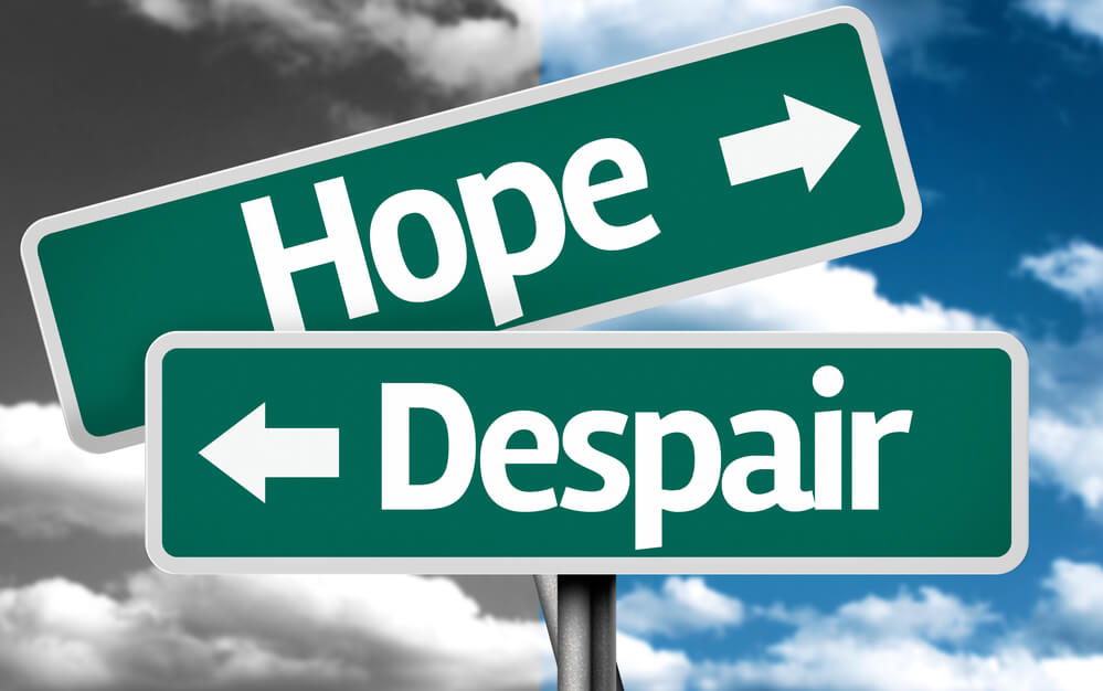 hope and despair sign