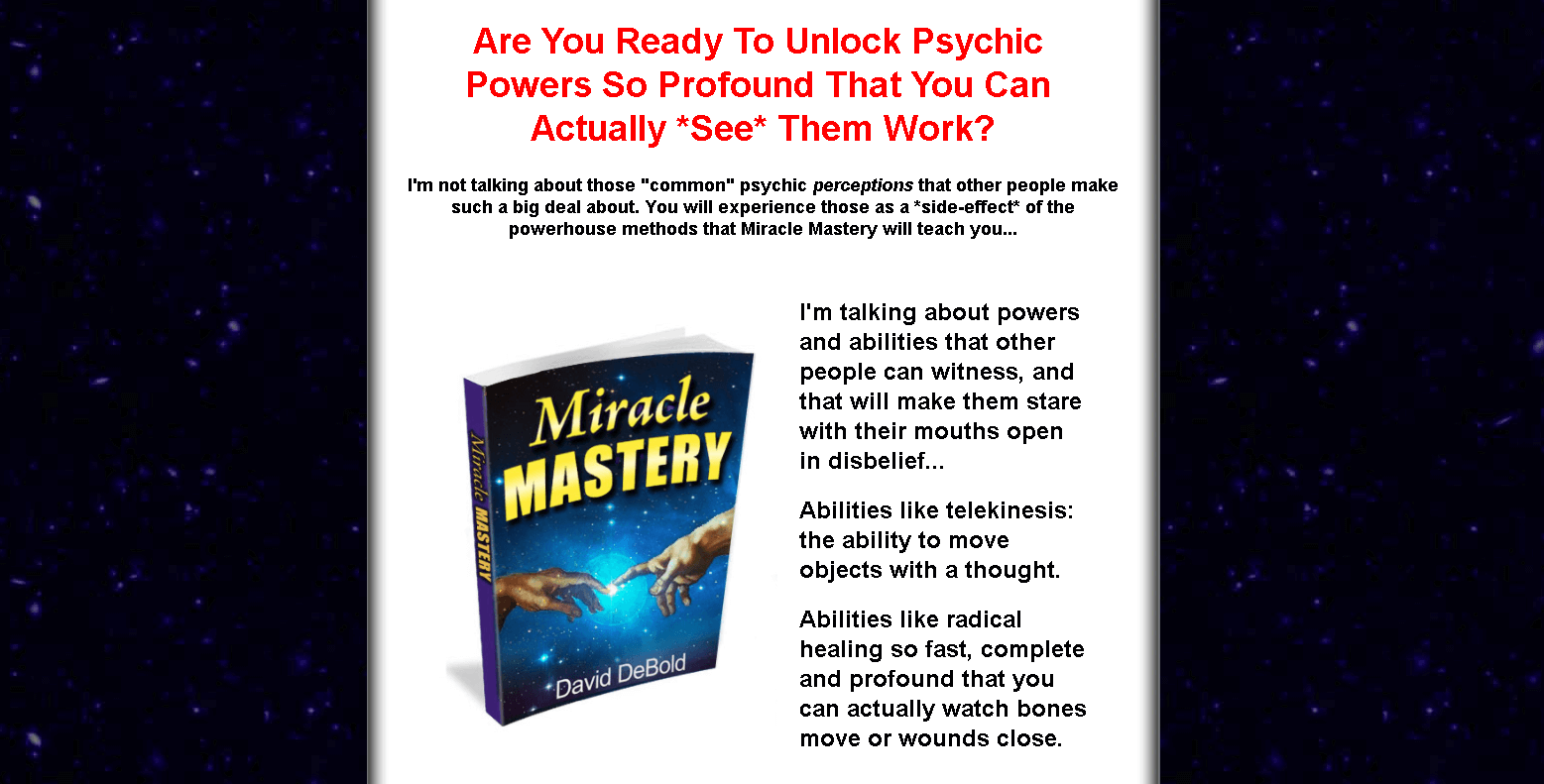 Miracle Mastery (unlock the psychic powers)