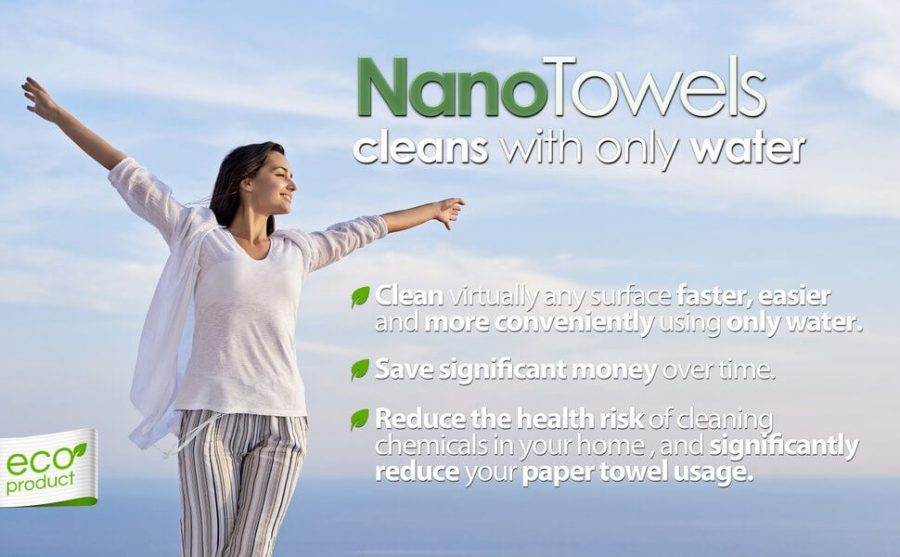 NanoTowels cleans only with water