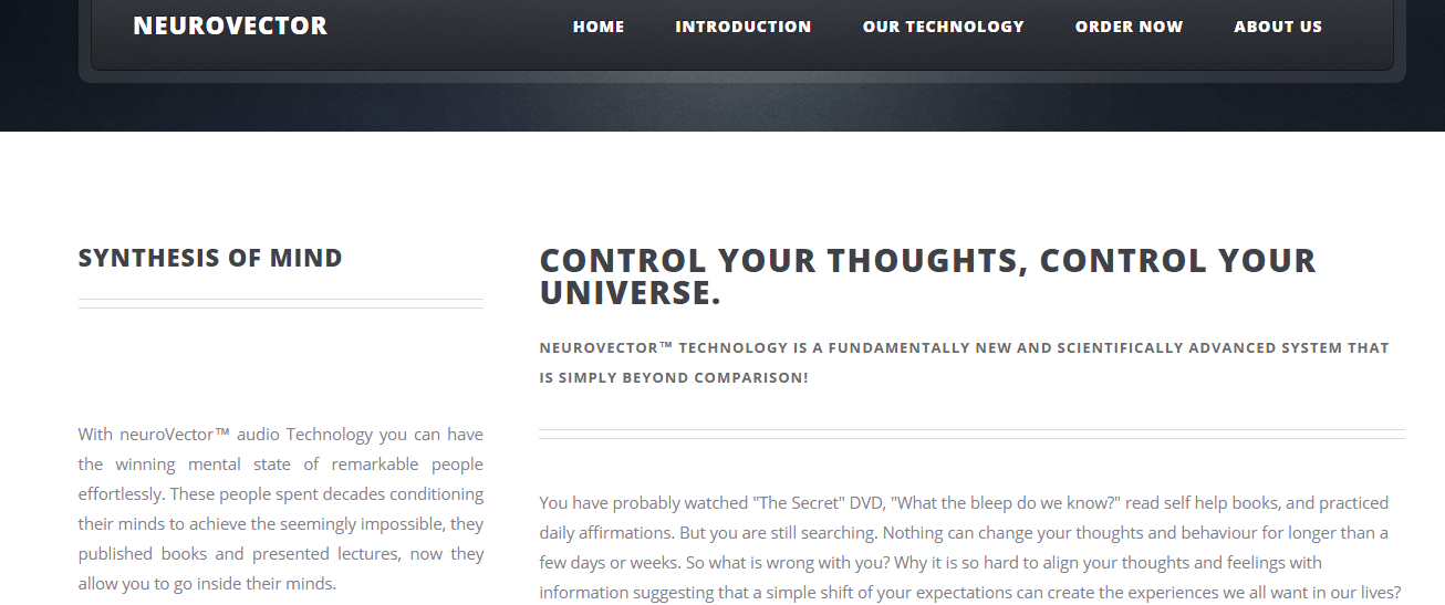 neuroVector : Control Your Thoughts