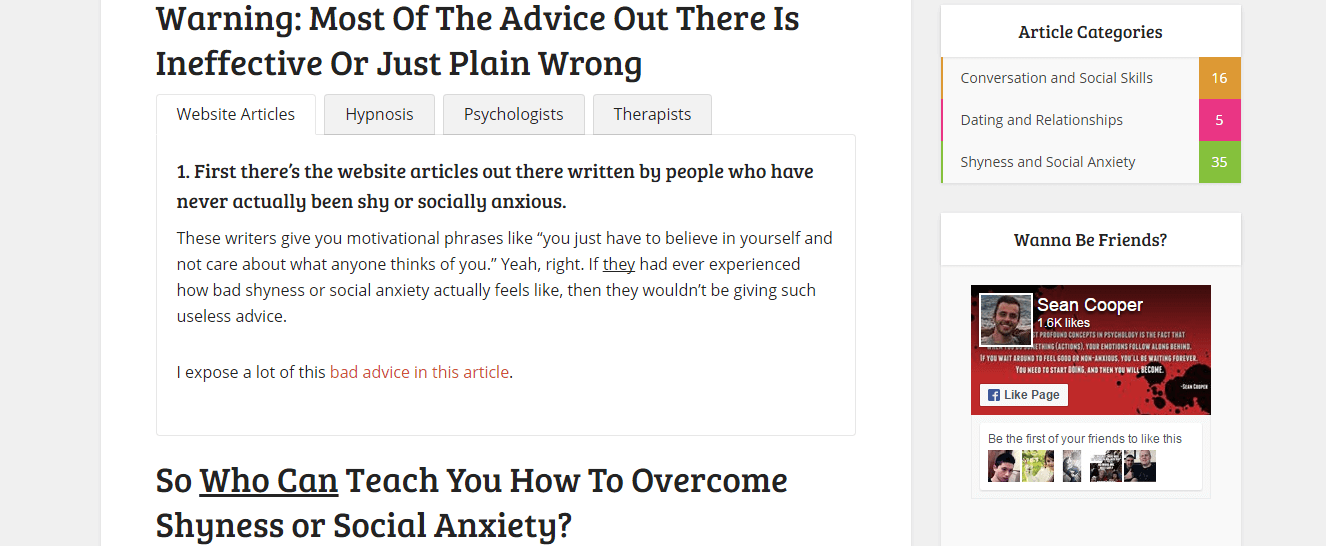 Tips to overcome social anxiety