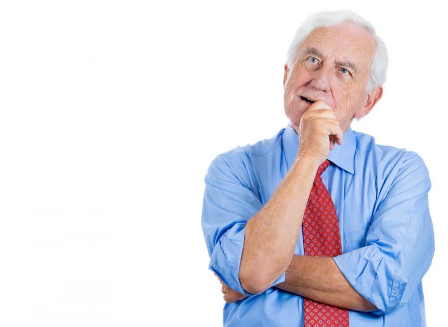 senior elderly mature man