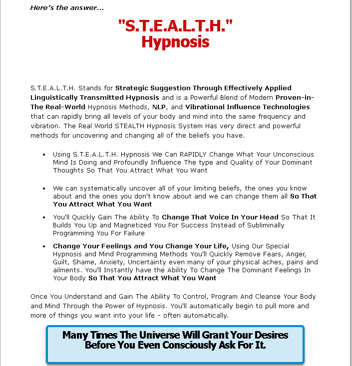 Stealth attraction meaning