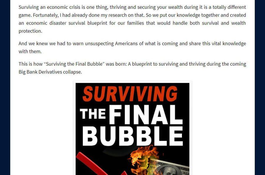 Survival guide when the bubble bursts.