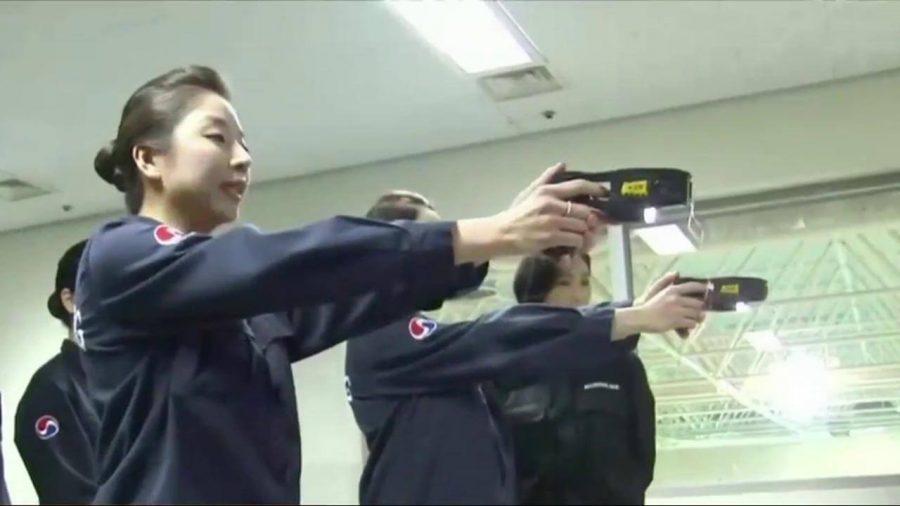 women on gun training