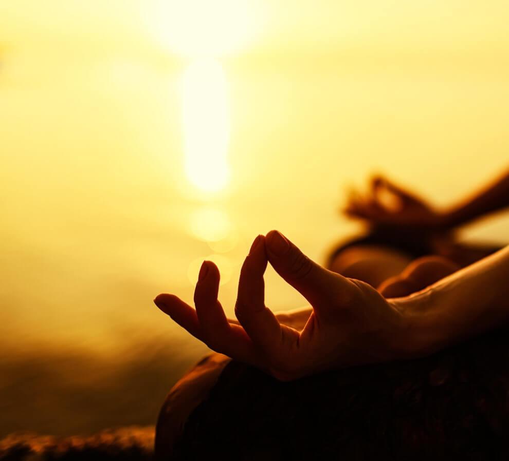 yoga finger positioning